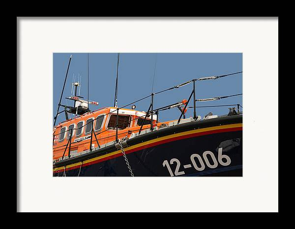 Life Framed Print featuring the photograph Life Boat by Christopher Rowlands