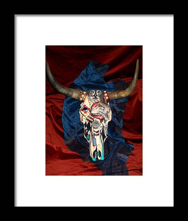 Skull Framed Print featuring the mixed media Life From Death by Jamie Jonas