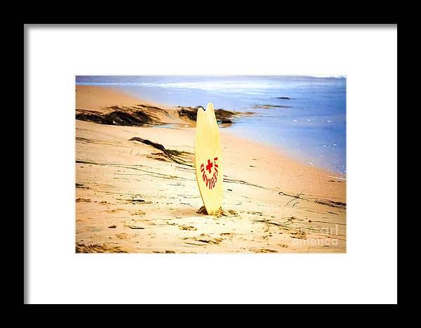 Beach Framed Print featuring the photograph Life Guard by Joe Galura