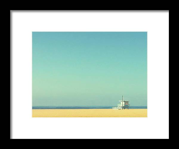 Tranquility Framed Print featuring the photograph Life Guard Tower by Denise Taylor