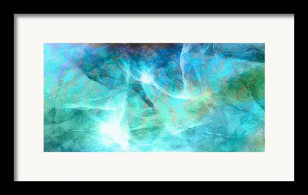 Large Abstract Framed Print featuring the painting Life Is A Gift - Abstract Art by Jaison Cianelli
