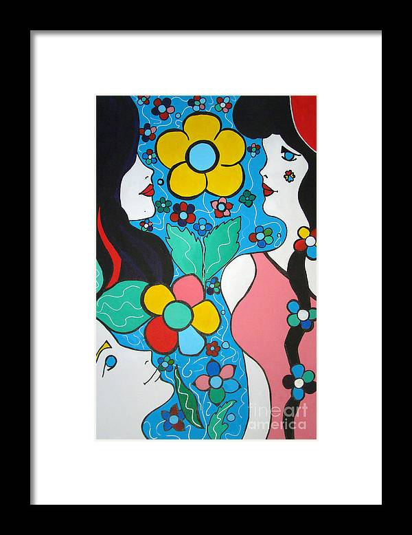 Pop-art Framed Print featuring the painting Life Is Beautiful by Silvana Abel