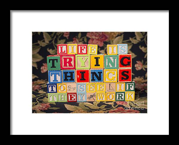 Life Is Trying Things To See If They Work Framed Print featuring the photograph Life Is Trying Things To See If They Work by Art Whitton