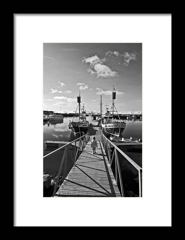 Life Framed Print featuring the photograph Life On The Docks by Solvi Breidfjord