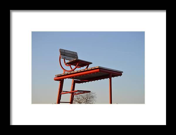 Beach Framed Print featuring the photograph Lifeguard Chair by Jessica Cruz