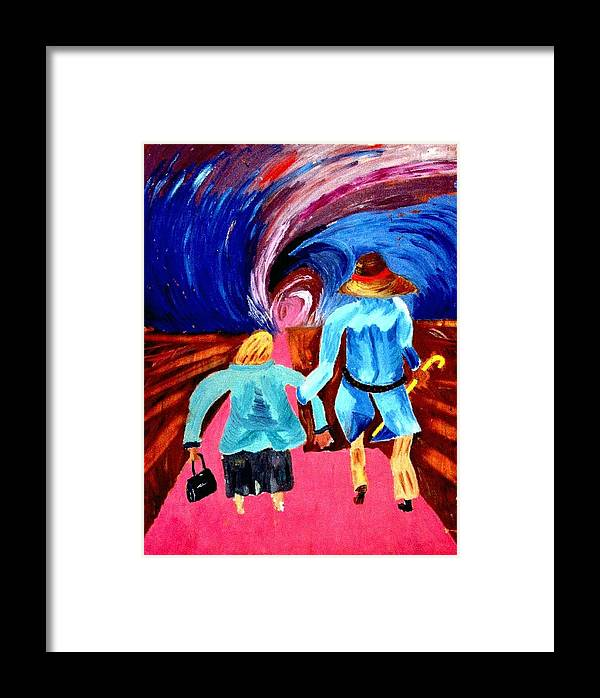 Couple Framed Print featuring the painting Life's Road by Vladimir A Shvartsman