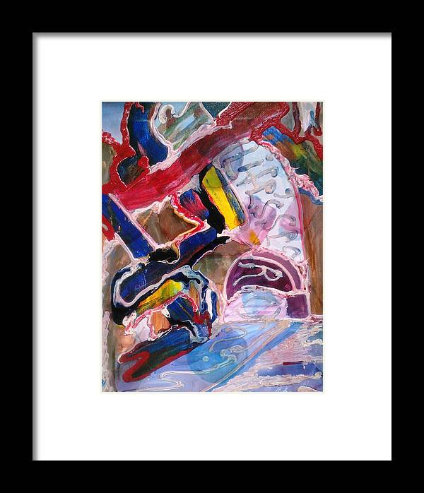 Abstract Art Framed Print featuring the painting Life's Secret by Ray Khalife