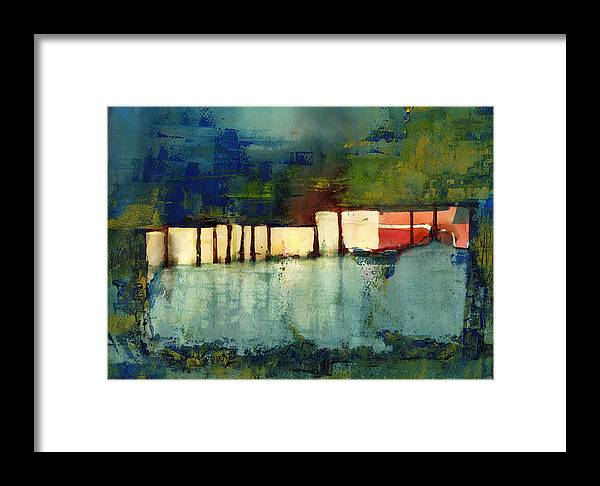 Abstract Framed Print featuring the painting Light by Agnes Trachet