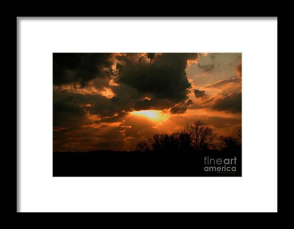 Sunsets Framed Print featuring the photograph Light Beyond The Clouds by Amanda Collins