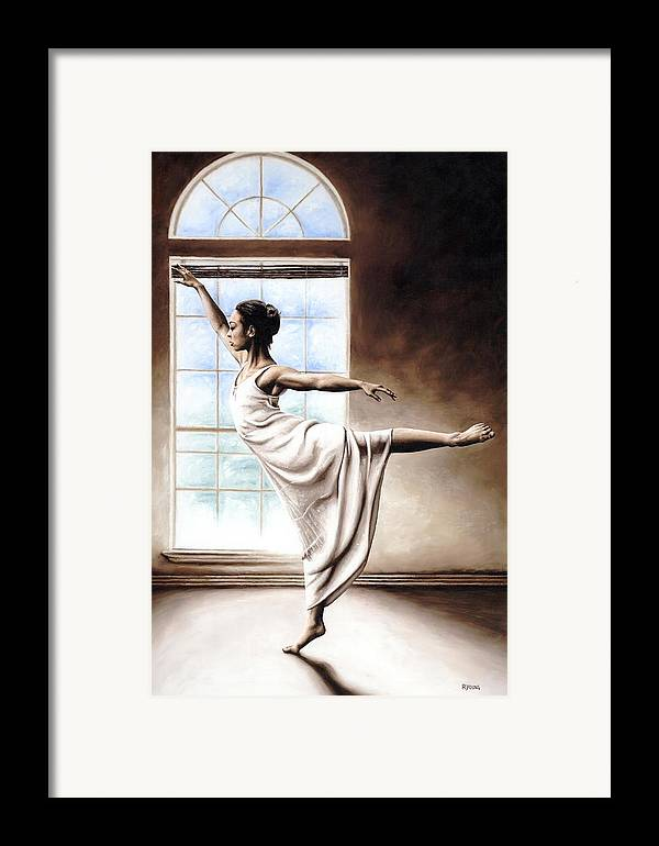 Dance Framed Print featuring the painting Light Elegance by Richard Young