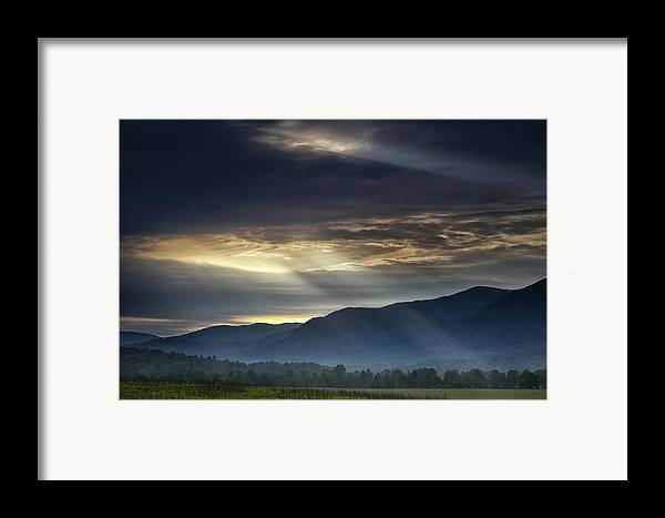 Smoky Framed Print featuring the photograph Light From The Heavens by Andrew Soundarajan