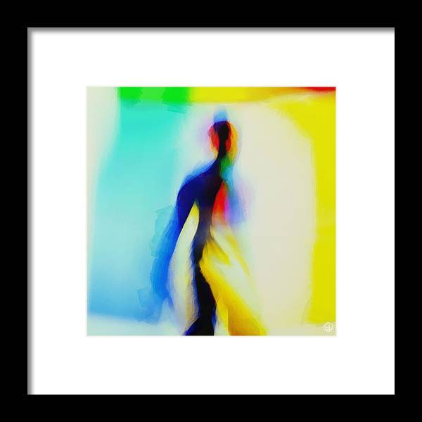 Human Framed Print featuring the digital art Light From Within by Gun Legler