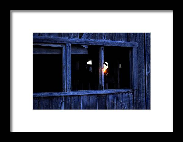 Window Framed Print featuring the photograph Light In The Window by Bonfire Photography