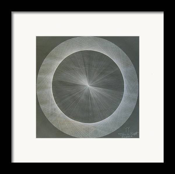 Light Framed Print featuring the drawing Light Is Pi The Shape Of Pi by Jason Padgett