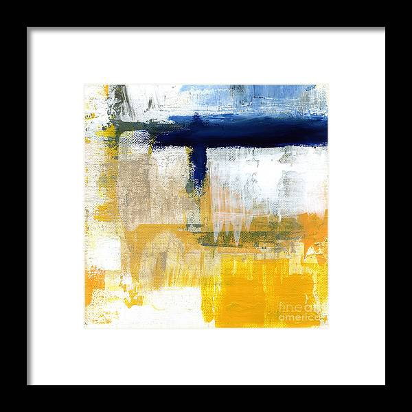 Abstract Framed Print featuring the painting Light Of Day 2 by Linda Woods