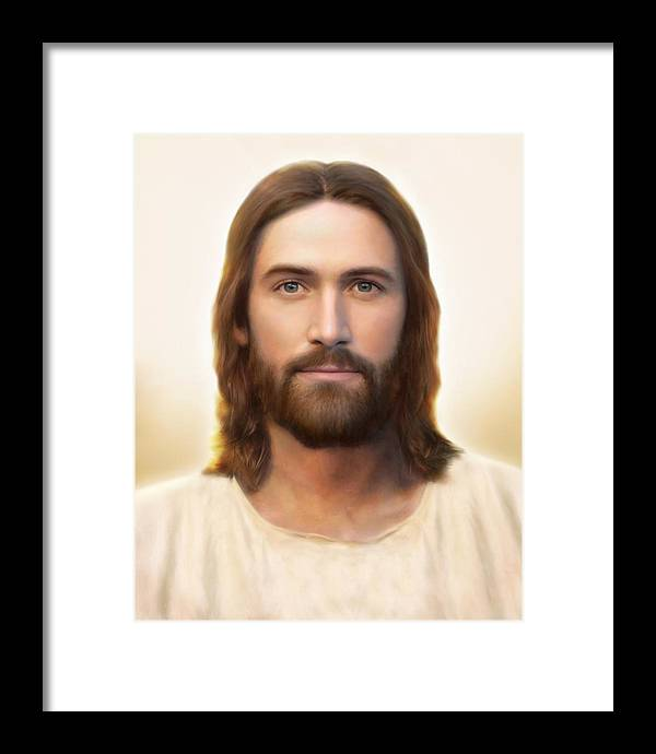Jesus Framed Print featuring the painting Light of the World by Brent Borup