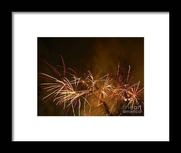 Fireworks Framed Print featuring the photograph Light Up The Night Sky by Heather White