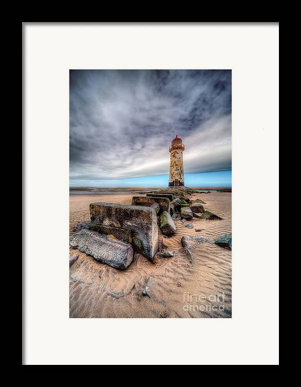 Beach Framed Print featuring the photograph Lighthouse At Talacre by Adrian Evans