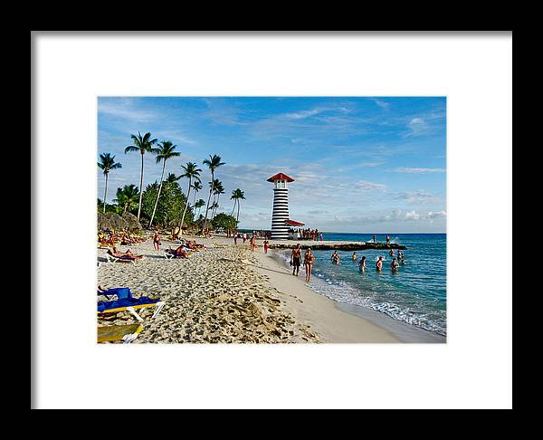 Lighthouse Framed Print featuring the photograph Lighthouse. Dominican Republic. by Andy Za