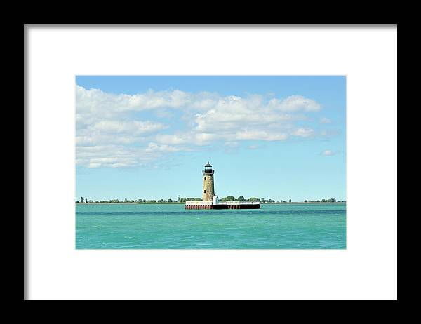 Scenics Framed Print featuring the photograph Lighthouse Lake St. Clair by Rivernorthphotography