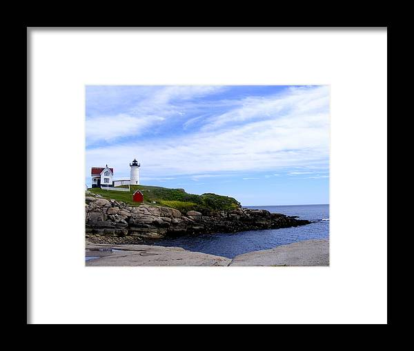 Lighthouse Framed Print featuring the photograph Lighthouse by Laura Gillmer