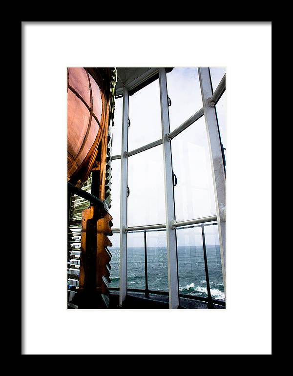 Lighthouse Framed Print featuring the photograph Lighthouse Lens by John Daly