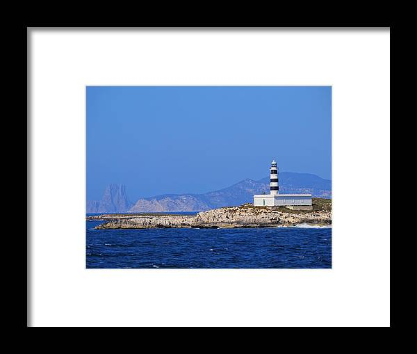 Lighthouse Framed Print featuring the photograph Lighthouse On Isla De Es Penjats by Karol Kozlowski