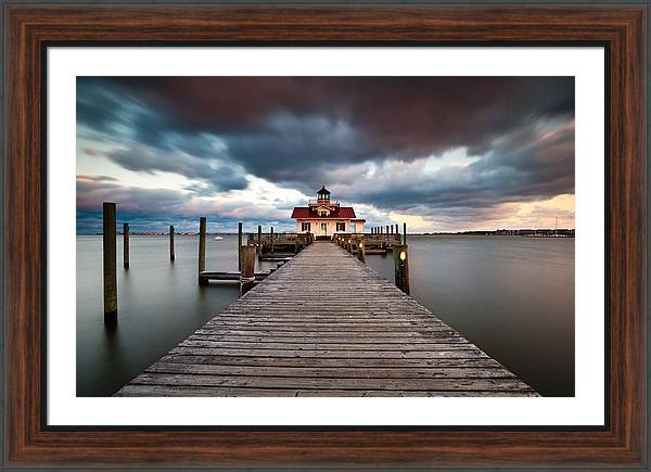 Lighthouse - Outer Banks NC Manteo Lighthouse Roanoke Marshes by Dave Allen