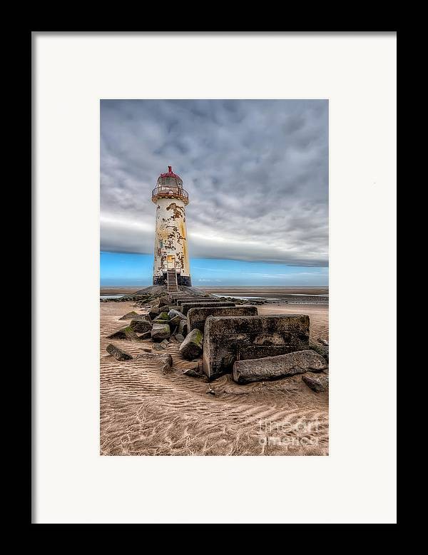 Beach Framed Print featuring the photograph Lighthouse Steps by Adrian Evans