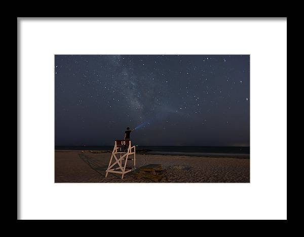 Stars Framed Print featuring the photograph Lighting The Way To The Milkyway by Denis Therien