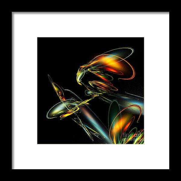 Lightning Bug Framed Print featuring the digital art Lightning Bug by Klara Acel