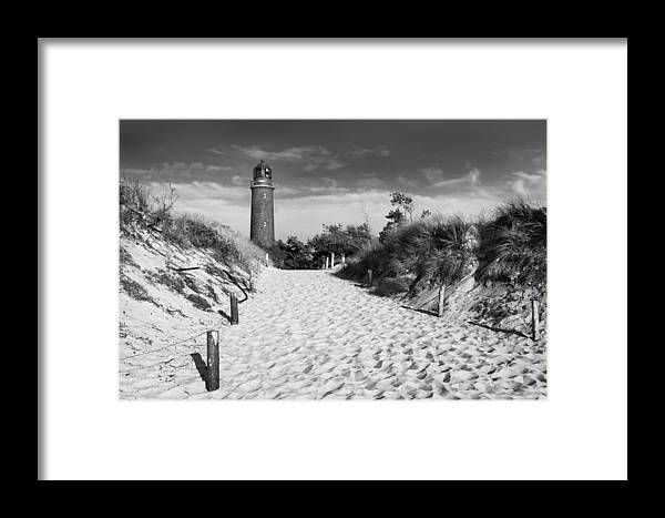 Ostsee Framed Print featuring the pyrography Lightning Prerow by Steffen Gierok