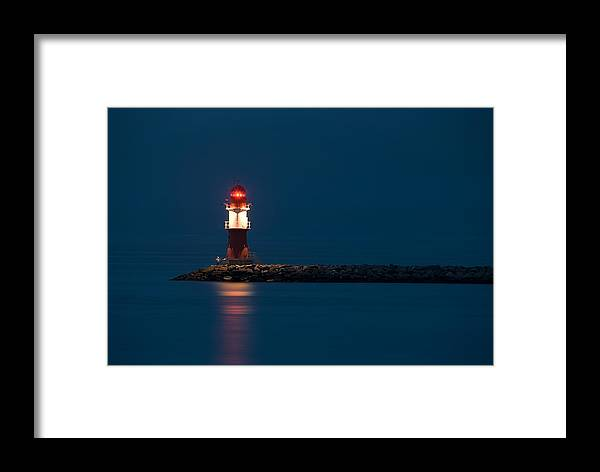 Ostsee Framed Print featuring the pyrography Lightning by Steffen Gierok