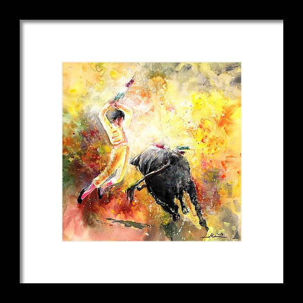 Animals Framed Print featuring the painting Lightning Strikes by Miki De Goodaboom