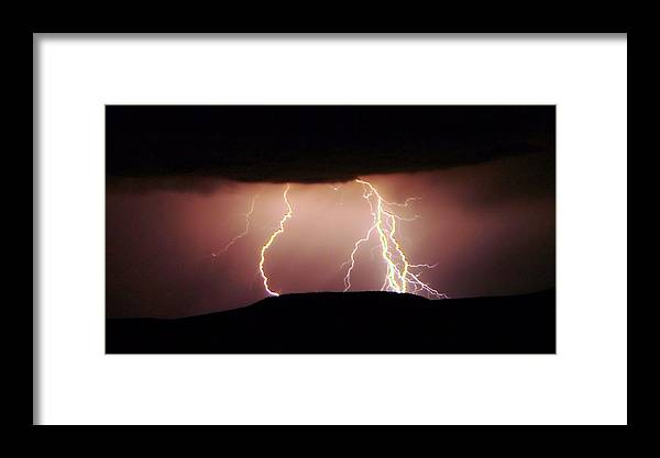Lightning Framed Print featuring the photograph Lightning Walking by Jeff Swan
