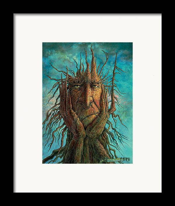 Fantasy Creatures Framed Print featuring the painting Lightninghead by Frank Robert Dixon