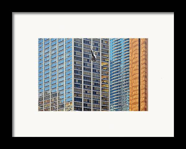 Il Framed Print featuring the photograph Lights - Camera - Action - Movie Backdrop Chicago by Christine Till