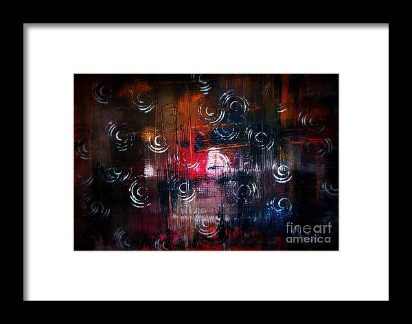 Abstract Framed Print featuring the painting Liiodin by Alex Blaha