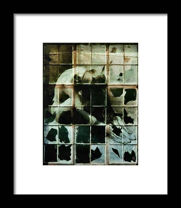 Window Framed Print featuring the digital art Like A Broken Window by Gun Legler