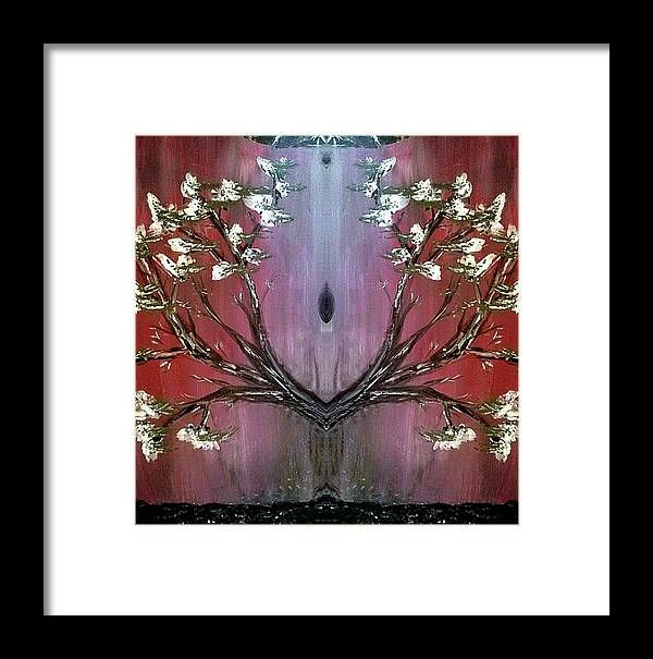 Inspiration Framed Print featuring the painting Like A Flame by Lady Ex