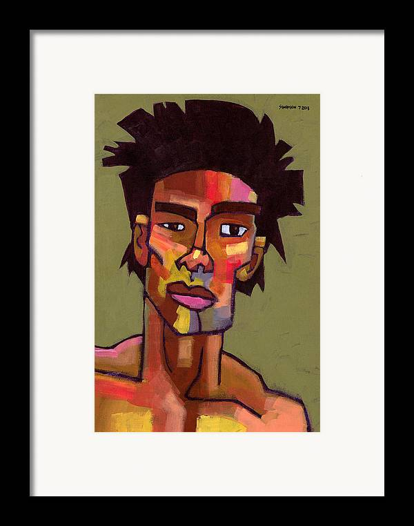 Portrait Framed Print featuring the painting Likes To Party by Douglas Simonson