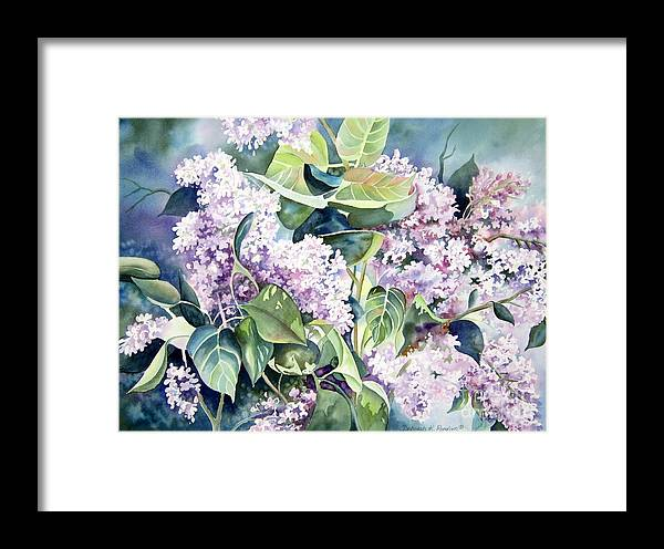 Lilac Framed Print featuring the painting Lilac Delight by Deborah Ronglien