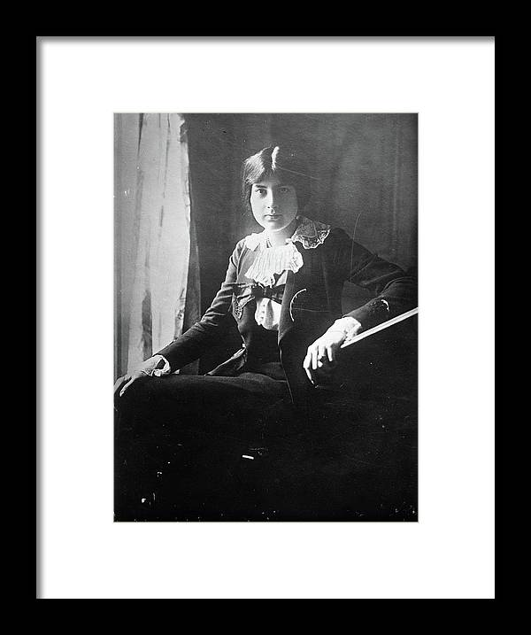 1918 Framed Print featuring the photograph Lili Boulanger (1893-1918) by Granger
