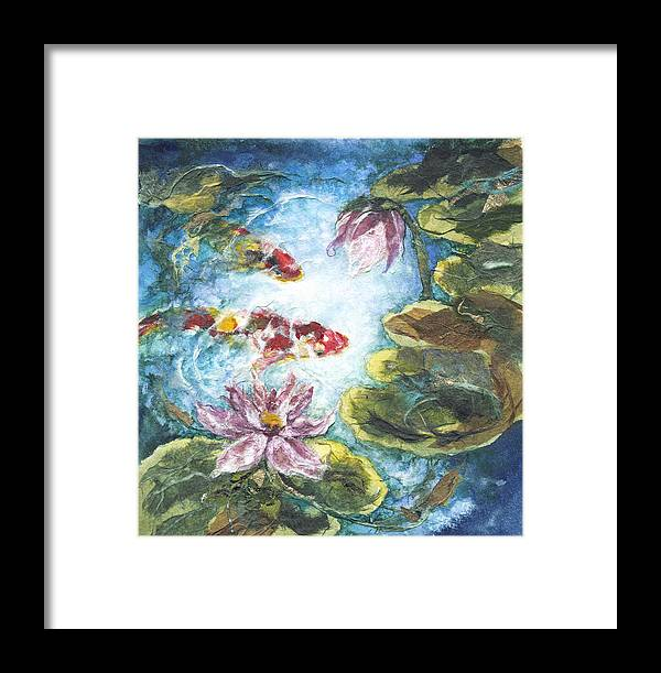 Watercolor Framed Print featuring the painting Lilies #3 by Connie Ely McClure