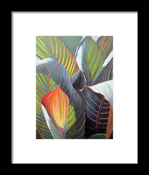In Focus Framed Print featuring the painting Lilies And Light by Patricia Devitt