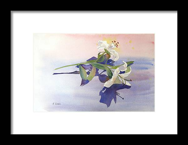 Lily Framed Print featuring the painting Lilies At Rest by Patricia Novack