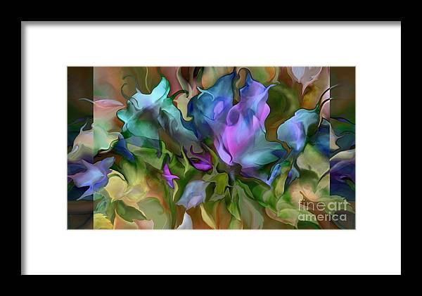 Ursula Freer Framed Print featuring the digital art Lilies by Ursula Freer