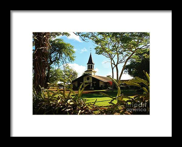 Hawaiian Church Framed Print featuring the photograph Liliuokalani Church - Haleiwa Hawaii by Craig Wood