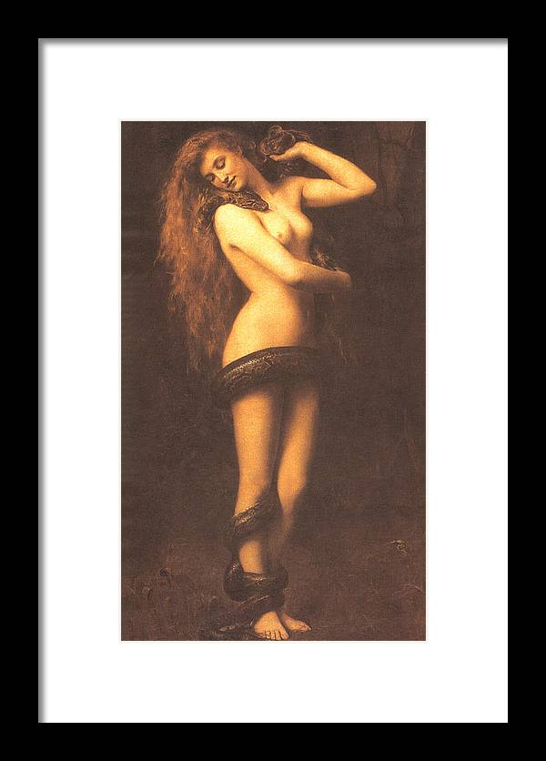 John Collier Framed Print featuring the digital art Lilth by John Collier