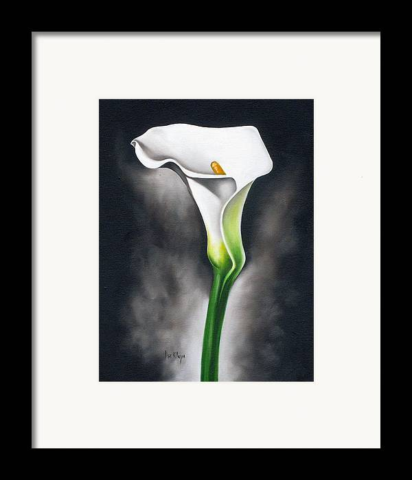 Lilly Framed Print featuring the painting Lily by Ilse Kleyn